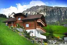Spring in Alps, Switzerland Royalty Free Stock Image