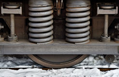 Spring amortisation on train chassis Royalty Free Stock Image