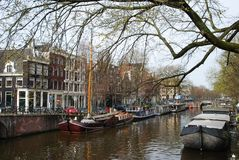 Spring In Amsterdam Royalty Free Stock Photography