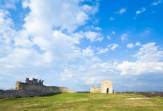 Spring ancient fortress ruins Stock Photography