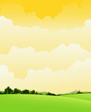 Spring And Summer Cloudy Landscape Royalty Free Stock Photo