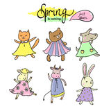 Spring animal dance Stock Photo