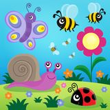 Spring animals and insect theme image 1 Stock Photos