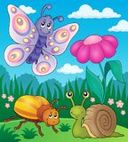 Spring animals and insect theme image 2 Royalty Free Stock Images