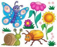Spring animals and insect theme set 2 Royalty Free Stock Photography