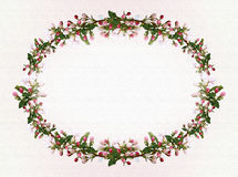 Flowers Apple tree oval frame background Royalty Free Stock Photo