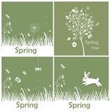Spring applique Stock Images