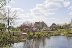 Spring April  in village Royalty Free Stock Photos