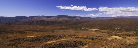 A spring Arizona landscape. With white clouds and bright blue skies stock photography
