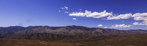 A spring Arizona landscape. With white clouds and bright blue skies royalty free stock photos