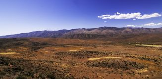 A spring Arizona landscape. With white clouds and bright blue skies stock photo