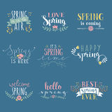 Spring art text composition vector illustration Stock Photo