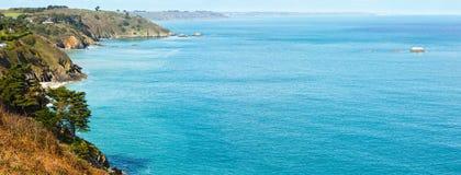 Spring Atlantic Ocean coastline landscape (France) Stock Images