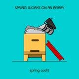 Spring audit (spring work) Stock Photo