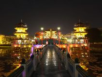 The Spring and Autumn Pagodas in Kaohsiung Stock Photo