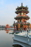 Spring and Autumn Pavilions, Lotus Pond, Kahosiung Royalty Free Stock Images