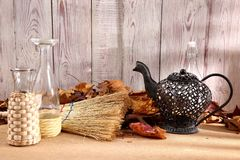When the spring or autumn season comes, it`s time to organize the garden. During cleaning works, various garden tools are useful which shorten the working time Royalty Free Stock Images