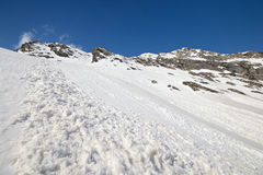 Spring avalanches in the Alps Stock Image