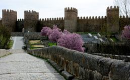 Spring in Avila, Castilla Leon, Spain Stock Image