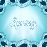 Spring awakening poster Royalty Free Stock Images
