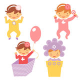 Spring babies set Royalty Free Stock Photography