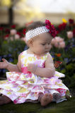 Spring Baby with Butterfly Stock Images