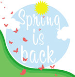 Spring is back banner Stock Photo