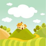 Spring background. Spring landscape background  illustration Stock Image