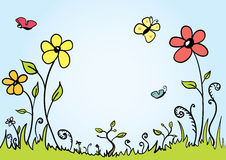 Spring Background. Vector Spring background with room for your text Stock Photos