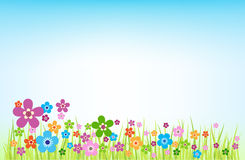 Spring Background. With flowers for web or print usage Stock Photos
