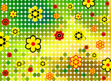 Spring background. Spring retro background with warm colours Royalty Free Stock Images