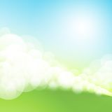 Green spring easter background Royalty Free Stock Image
