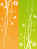 Spring Background. Flower swirl spring background vector illustration Stock Photo