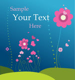 Spring background. Vector illustration. Floral background with space for your text Stock Photo
