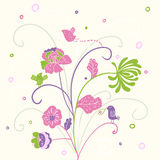 Spring background. Spring floral background in pastel colors Royalty Free Stock Photo