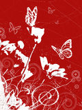 Spring background with butterflies  Stock Photos