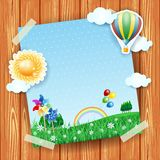 Spring background with copyspace, collage Royalty Free Stock Images