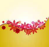 Spring background for the design of Colorful flowers Vector illustration Royalty Free Stock Photography