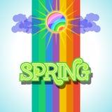 Spring Background Design Vector. Spring Background Design. Colorful Vector Illustration eps10 Royalty Free Stock Photos