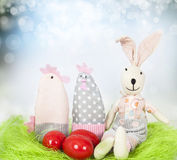 Spring background and Easter eggs Stock Photography