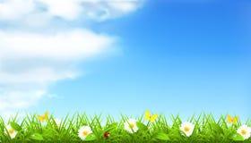 Spring background. Ecology, computer illustration Stock Photos