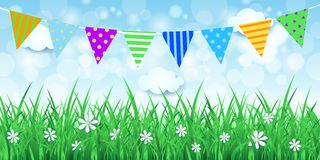 Spring background with festoon. Vector eps10 Stock Photo