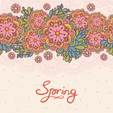 Cute floral romantic seamless pattern. Stock Photo