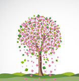 Spring background with flowering tree. Stock Photos