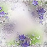 Spring background with flowers Royalty Free Stock Photo