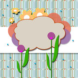 Spring. Background  with  flowers and decoration Stock Image