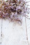 Spring background with flowers. On a wooden background close up royalty free stock photo