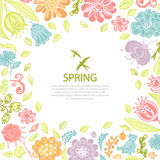 Spring background from flowers Royalty Free Stock Photos