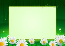 Spring Background frame with flowers for Greeting Card royalty free illustration