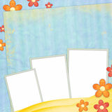 Spring background with frames Stock Image